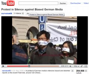 protest against biased German media, Munich, 2008