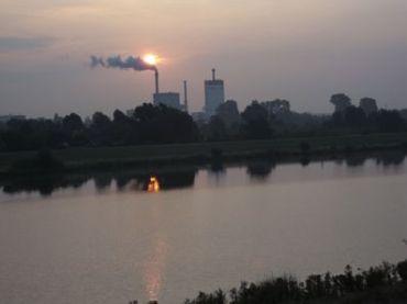 Bremen-Hastedt power station, sunrise, August 2010