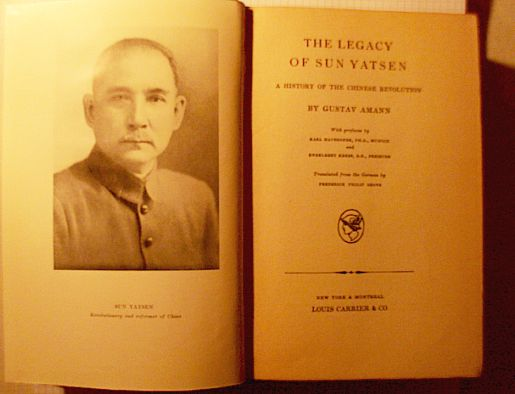 """The Legacy of Sun Yatsen"", Montreal, New York, 1929"