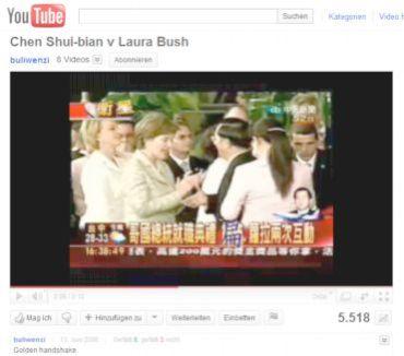 Chen Shui-bian, Laura Bush in Costa Rica