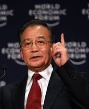 Wen Jiabao at the World Economic Forum in Davos, 2008 (Wikicommons, click on this picture for source)