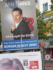 Election poster, Bremen Bürgerschaft elections: you can say you to me