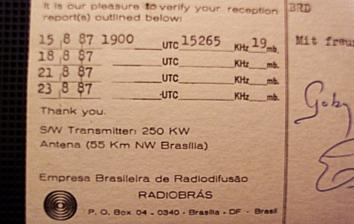 RadioBras QSL, 1987