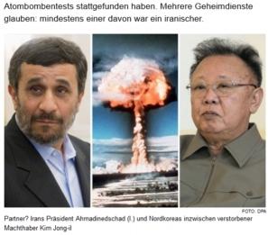 Die Welt: Ahmadinejad, Kim