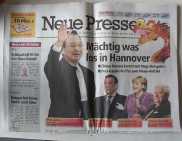 Wen Jiabao, Hanover visit