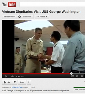 Vietnamese Dignitaries visit USS George Washington
