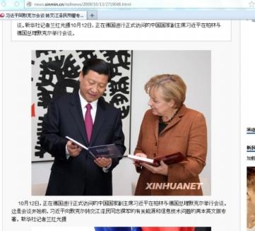 Xi Jinping, Angela Merkel, October 2009
