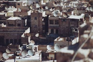 Satellite dishes, Aleppo, Syria