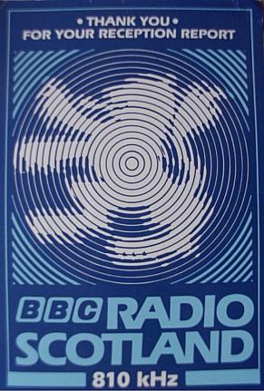 BBC Radio Scotland 810 kHz QSL