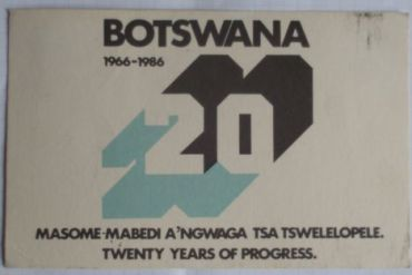 Radio Botswana QSL, 1986