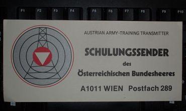 Austrian Army training transmitter QSL, 1986