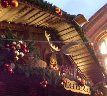 Rudy the Reindeer, Bremen Christmas market, December 19, in the wee small hours