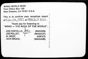 QSL, veri-signed by Costello
