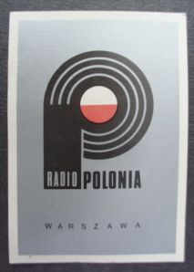 A Radio Polonia QSL card, confirming a report on the station's broadcast on February 9, 1986 at 16:00 UTC on 6095 kHz.