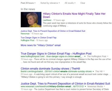 search results: Hillary Clinton's emails