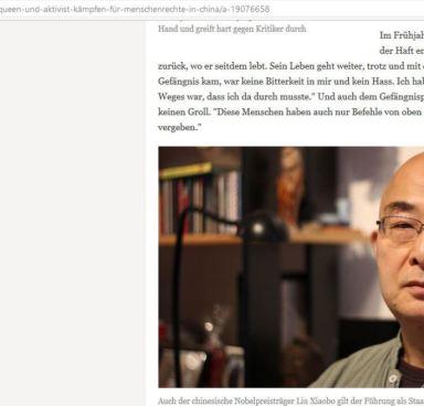 Liao Yiwu, mistaken for Liu Xiaobo