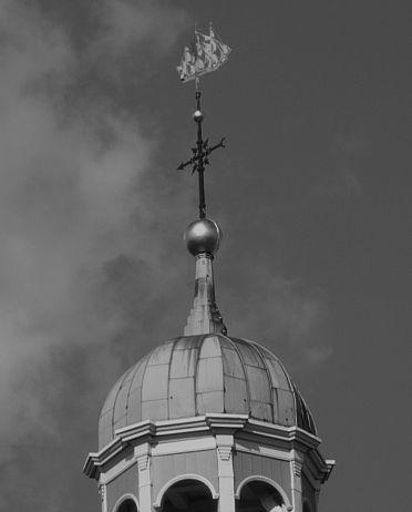 Leer Reformed Church weather vane, archive / edited photo