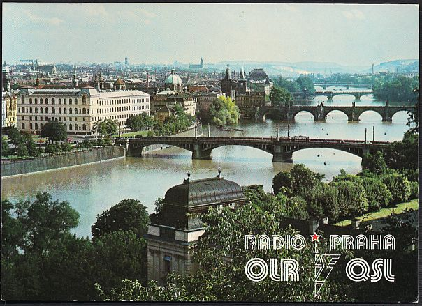 Red star over Radio Prague: a pre-1989 QSL card, confirming reception of a broadcast on December 30, 1985
